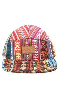 be54eba0c15 Multi Aztec Print 5 Panel Hat