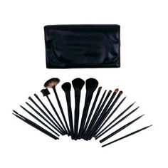 FASH Professional goat and horse hair Cosmetic Brush Set with Faux Leather Pouch,21-Piece, For Eye Shadow, Blush, Eyeliner, eyebrow..... by FASH Limited. $20.99. Professional grade quality.. 21 piece brush set comes with a beautiful shiny roll-up storage pouch with magnetic clasps.. A complete collections - contains all  necessary brushes consisting of face brushes, angled, contour, lip, brow and eye line detailers.. A perfect kit for your makeup kit.. Eco-Friendly - ...