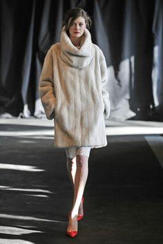 mink fur pullover