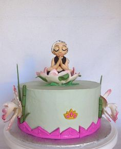Custom Cakes by Lori: Yoga birthday cake for an eighty year old