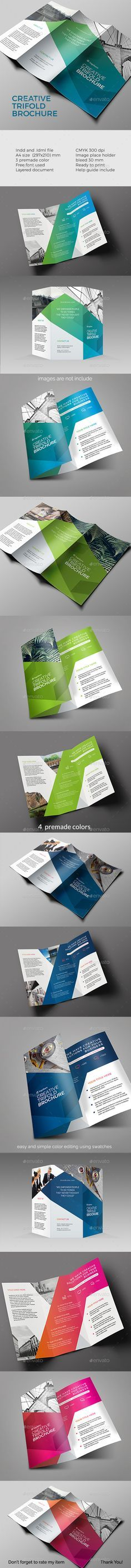 Trifold Brochure Template InDesign INDD. Download here: http://graphicriver.net/item/trifold-brochure/15521511?ref=ksioks