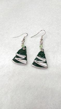 Nespresso+green+Christmas+tree+earrings