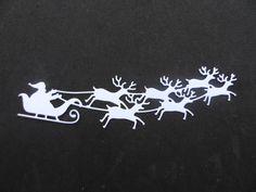 Découpe traîneau du père Noel : Embellissements par didine45