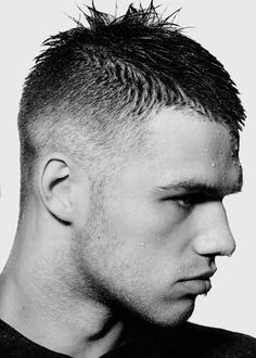 This is an aggressively tight taper with a tapered front hairline. on Haircuts for Men | Pictures of Mens Haircuts and Mens Hair Care & Shaving http://haircutsformen.org/buzzblog/wp-content/gallery/pictures-of-mens-short-haircut/tight-taper-buzzed-front.jpg