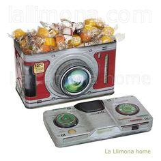 Caja cámara fotos metal