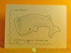 Weiteres - Grusskarte Pottwal individuell handgemalt - ein Designerstück von blattwerkstatt bei DaWanda
