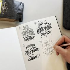 """996 Likes, 118 Comments - Ian Barnard (@ianbarnard) on Instagram: """"1, 2, 3 or 4? Comment below! #iwd2018 #handlettering #lettering #typography #womansday…"""""""