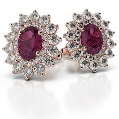 d88dbac17 Designer oval cut turmaline and diamond stud earrings set in 18 K yellow  gold. All