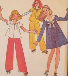 Vintage 1970s Children's Girls' Sewing Pattern by Eight Mile Vintage