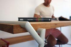 'Atlas Series' Bench  Table by Psalt Design. Stand E07 - Hall T1. Tent London 2013. www.psaltdesign.co.uk