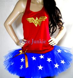 Wonder Woman Set Availble in Tank or Tshirt style by RaceJunkie, $53.99