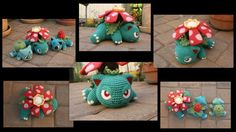 """Finished another evolution line! Venusaur is so grumpy I don't know if there's such a thing as a """"baby"""" Venusaur, but whatevs! Hope you guys like him! Also, I did not write a patt..."""