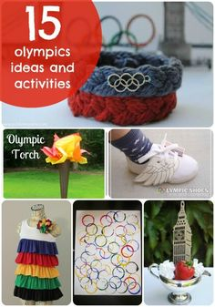 Repinned: Great Ideas -- 15 Festive Olympic Projects and Activities!! -- Tatertots and Jello
