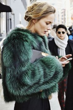 emerald green | The Prettiest Faux Fur :: This is Glamorous
