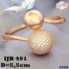 Lapis Emas Gelang Xuping Bola (Besar) Permata Zircon Gold 18k JB401