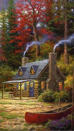 Travel Discover Gardens Discover Thomas KinkadeYou can find Thomas kinkade and more on our website. Beautiful Paintings, Beautiful Landscapes, Easy Paintings, Landscape Art, Landscape Paintings, Fantasy Art Landscapes, Thomas Kinkade Art, Graffiti Kunst, Kinkade Paintings