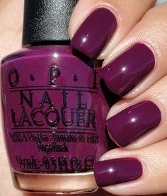 Pretty Nail Colors, Fall Nail Colors, Nail Polish Colors, Pretty Nails, Opi Nail Polish, Fabulous Nails, Gorgeous Nails, Diy Nail Designs, Art Designs