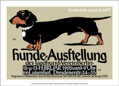 Poster for a dog show, Berlin, 1905