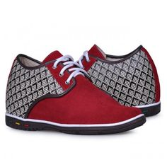 Look for best Red men height increasing casual shoes get tall 7cm / 2.75inches with the SKU: MENJGL_1205_3 at Tooutshoes online store