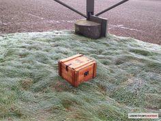 Munitionskiste Walther - Shop - Lebenstraum Wunderbar  #wood #box #chest #shop #green #military #ammunition #restauriert #militär #munition #olivgrün #beschläge