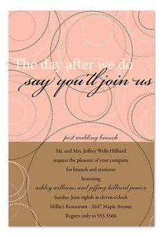 Post Wedding Brunch Invitations If The Budget U0026 Travel Plans Permit Iu0027d Like