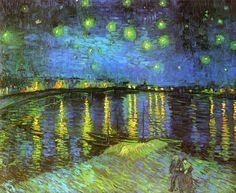 "Vincent van Gogh - ""Starry Night Over the Rhone"" - 1888"