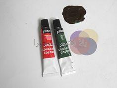 Mahmued.Art: الاوان تكوين اللون البنى من اندماج اللون الاحمر والاخضر نسبه الدمج احمد ١ والأخضر ١