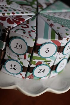 advent calender paper cake- no directions, but cool idea