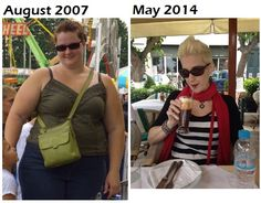 Before and After Gastric Bypass Surgery - 7yrs ago I had surgery and was 310lbs.  I'm now 155.  Read my Journey