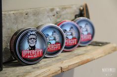 Uppercut Deluxe - North West Barber Co. - Shelves made from reclaimed 1851 Floorboards.