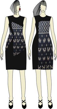 Ikat Weaving dress by Ivonne