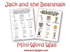 Jack & the Beanstalk FREE printables - Plant unit (March/April)
