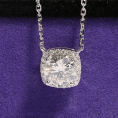 Find More Pendants Information about Solid 18K 750 White Gold 1 Carat ct F Color Lab Grown Moissanite Diamond Pendant Necklace With Real Diamond Accents For Women,High Quality Pendants from  CPP  sLowgUs'hop on Aliexpress.com
