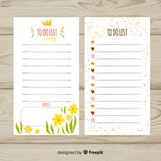 Lovely hand drawn list to do collection Free Vector To Do Lists Printable, Printable Labels, Printable Planner, Journal Template, Notes Template, Bullet Journal Books, Book Journal, Journal Stickers, Planner Stickers