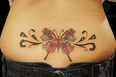 Beautiful Lower Back Tattoos For Women lower back beautiful butterfly . Butterfly Tattoos Images, Butterfly With Flowers Tattoo, Butterfly Tattoo Cover Up, Butterfly Tattoo On Shoulder, Butterfly Tattoo Designs, Tattoo Designs For Girls, Tattoo Chest And Sleeve, Sleeve Tattoos, Unique Tattoos