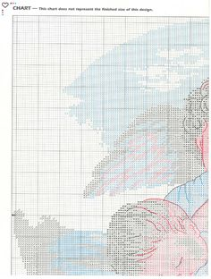 Schema punto croce Angelo Custode 1b
