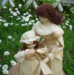 Corn Husk Dolls, Crafts For Kids, Culture, Unique, Beautiful, Ideas, Leaves, Crafts For Children, Kids Arts And Crafts