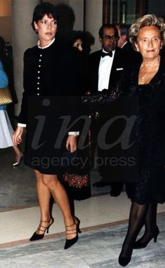 Caroline von Monaco & Bernadette Chirac bei Ballett Gala in Paris 1997
