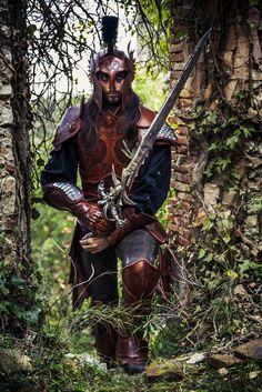 Flayern larp leather armor - medieval fantasy knight