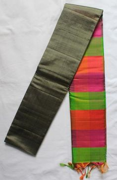 Partly pallu silk saree