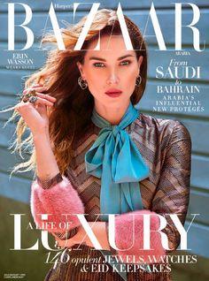Erin Wasson covers Harper's Bazaar Arabia July 2015