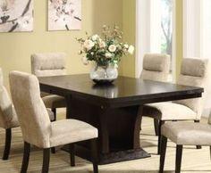 Homelegance Avery Extension Leaf Pedestal Dining Table in Espresso