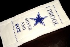 DALLAS COWBOYS  I Drool Silver and Blue  by ClassyBabyThreads, $16.50