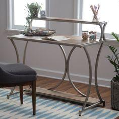 Belham Living Edison Reclaimed Wood Desk with Hutch - Desks at Hayneedle