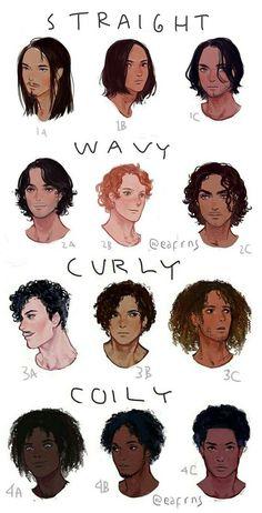 curly hair hard draw