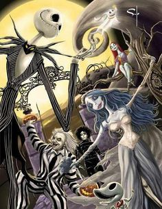 Tim burton mash up