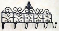 Wrought Iron Wall Hook - Coat Hook - Set of Coat and Key Hooks Antique Coat Rack, Iron Wall Art, Decorative Wall Hooks, Deck With Pergola, Pergola Roof, Wrought Iron Decor, Coat Hanger, Clothes Hanger, Moving Day