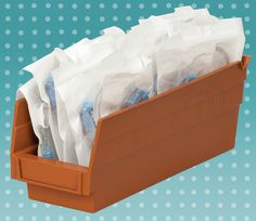 Shelf Bins from Akro-Mils can keep your medical supplies organized. #organize #medical