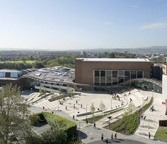Image 14 of 29 from gallery of Winners of the World Architecture Festival Higher education/research winner: University of Exeter: Forum Project, UK by Wilkinson Eyre Architects © Hufton + Crow World Architecture Festival, Architecture Today, Residential Architecture, Contemporary Architecture, Landscape Architecture, Architecture Design, Auckland, Exeter College, Area Urbana