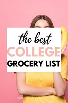 I'm not sure if it's only me but every time I go to the grocery store I end up walking around for hours in buying stuff that I don't need.This It's college grocery list is to encourage you to plan out your meals for the week. It also helps keep you organized and what ingredients to include this week. Here is the best college grocery list for students that is perfect for dorms and college apartments. #collegegrocerylist #collegegrocerylistonabudget #healthycollegegrocerylist College Dorm Food, College Grocery List, College Meals, College Fun, Grocery Lists, College Students, Grocery Store, Easy Meals For One, Cheap Easy Meals
